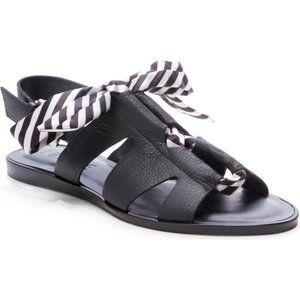 1.STATE Teena Black White Striped Sandals